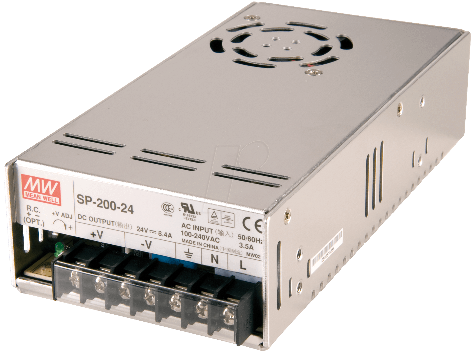 SNT MW200-12 - Schaltnetzteil, geschlossen, 12V / 16,7A / 200W
