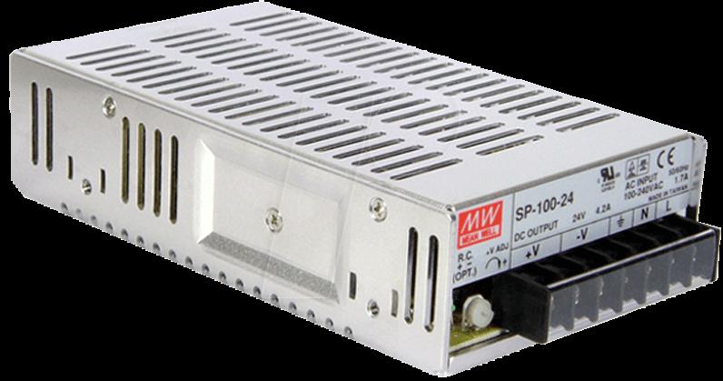 MW SP-100-12 - Schaltnetzteil, PFC, 102W, 12V/8,5A