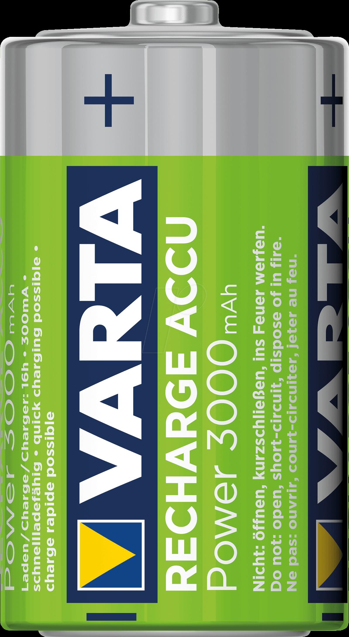 Ready to use 10 x Varta 3000mAh Mono D HR20 Akku 1,2 V 56720 Akku NiMh Accu