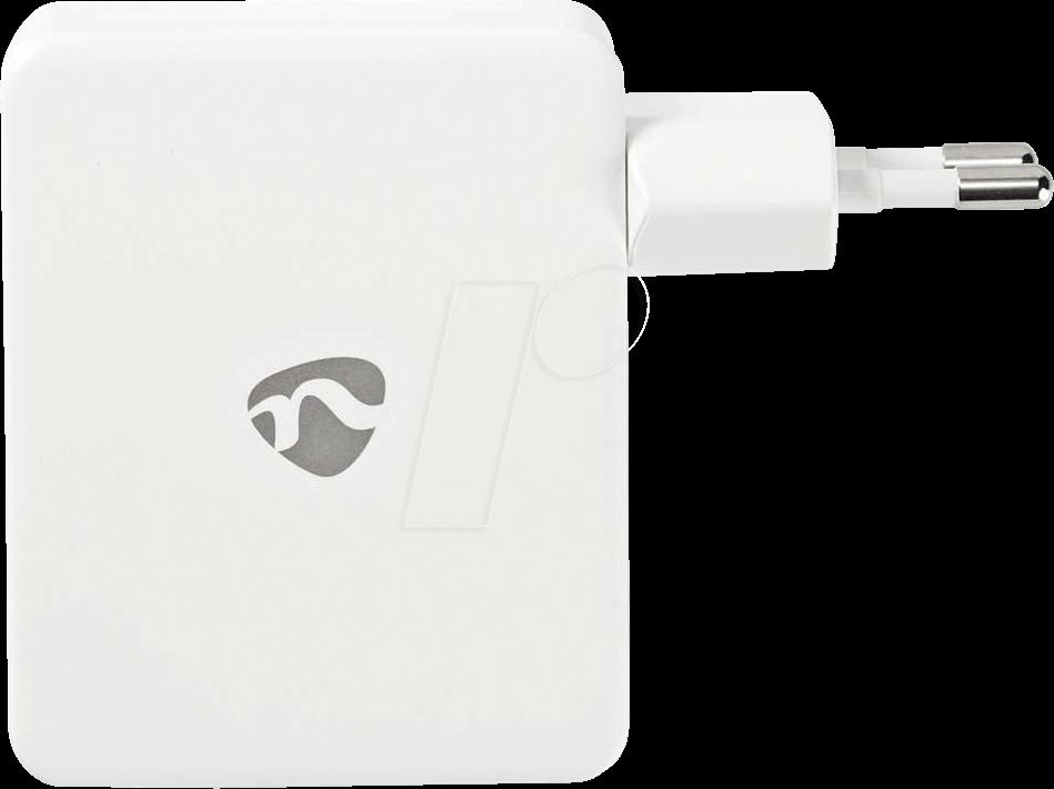 N WCHAU481AWT - USB-Ladegerät, 5 V, 4800 mA, weiß, 4-Port