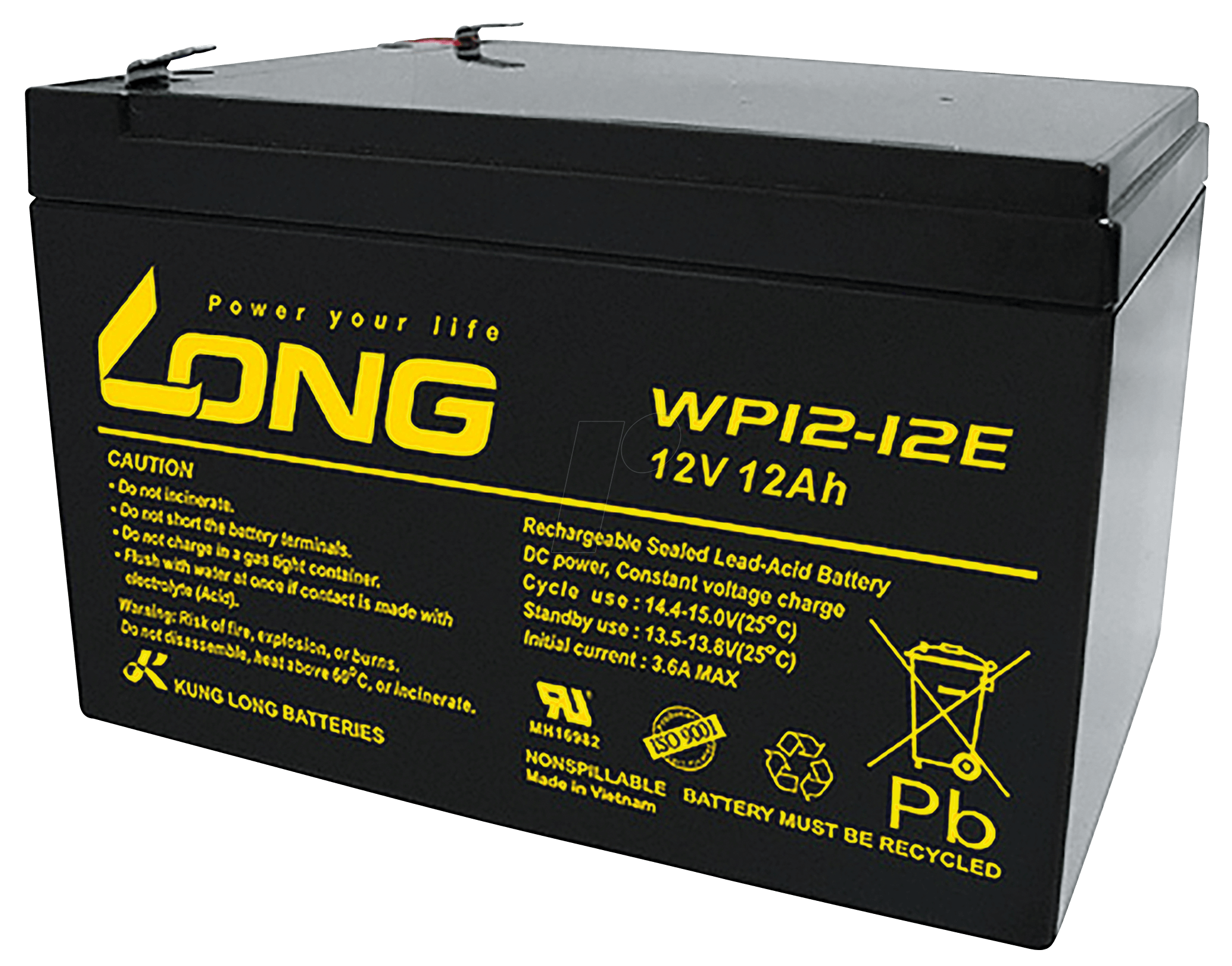 Lead Acid Battery : Wp e f maintenance free sealed lead acid battery