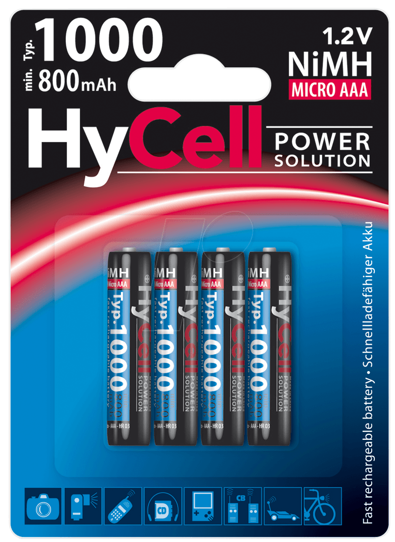 ans hc 4xaaa hycell nimh akku aaa micro 1000 mah 4er pack bei reichelt elektronik. Black Bedroom Furniture Sets. Home Design Ideas