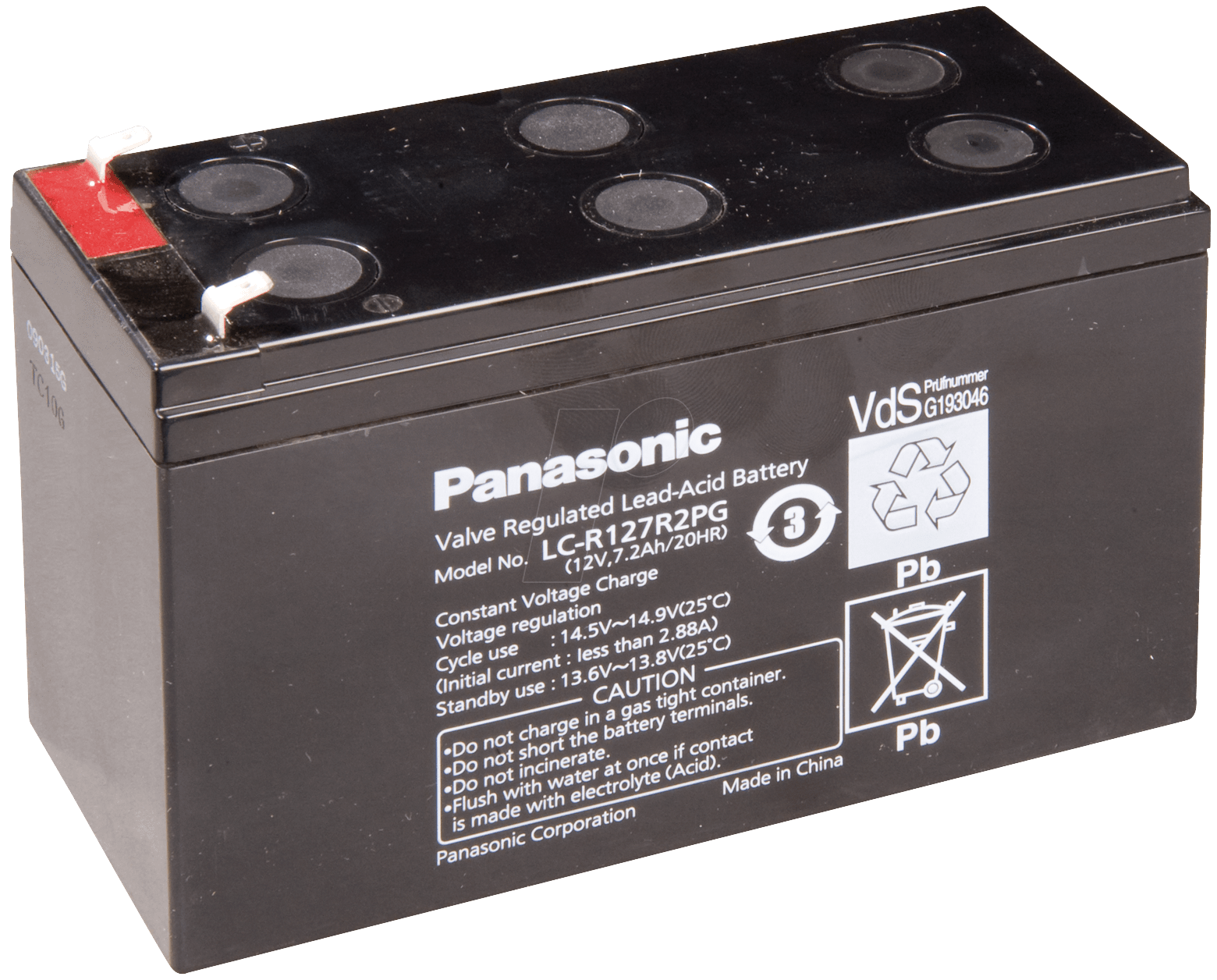 lcr 12v 7 2p lead battery 12 volt 7 2 ah 94 x 151 x 65