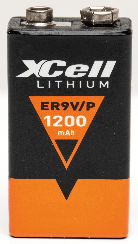 lithium 9v xcell xcell lithiumzelle 9 volt block 1200mah bei reichelt elektronik. Black Bedroom Furniture Sets. Home Design Ideas