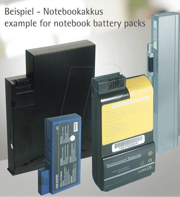 NA HP004 - Notebook-Akku für HP, Li-Ion, 4400 mAh