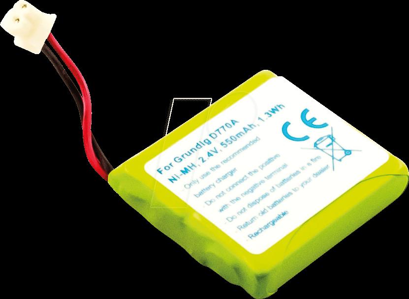 AKKU 23012 - Akku für Schnurlos-Telefone, NiMh, 550 mAh