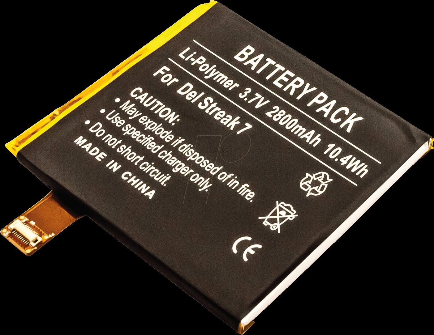 Akku 30587 Tablet Battery For Dell Streak Li Po 2800 Mah At Short Circuit Frei