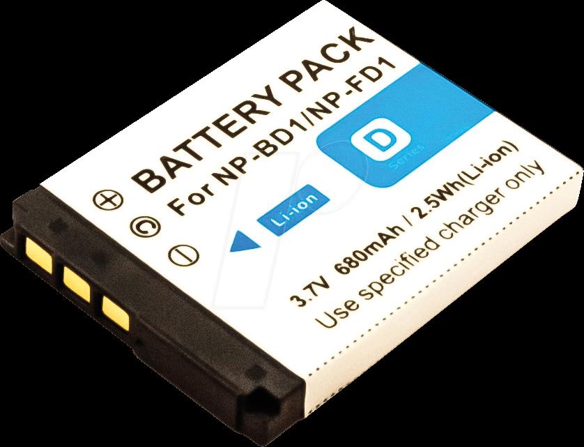 AKKU 40945 - Akku, Digitalkamera, kompatibel, 680 mAh