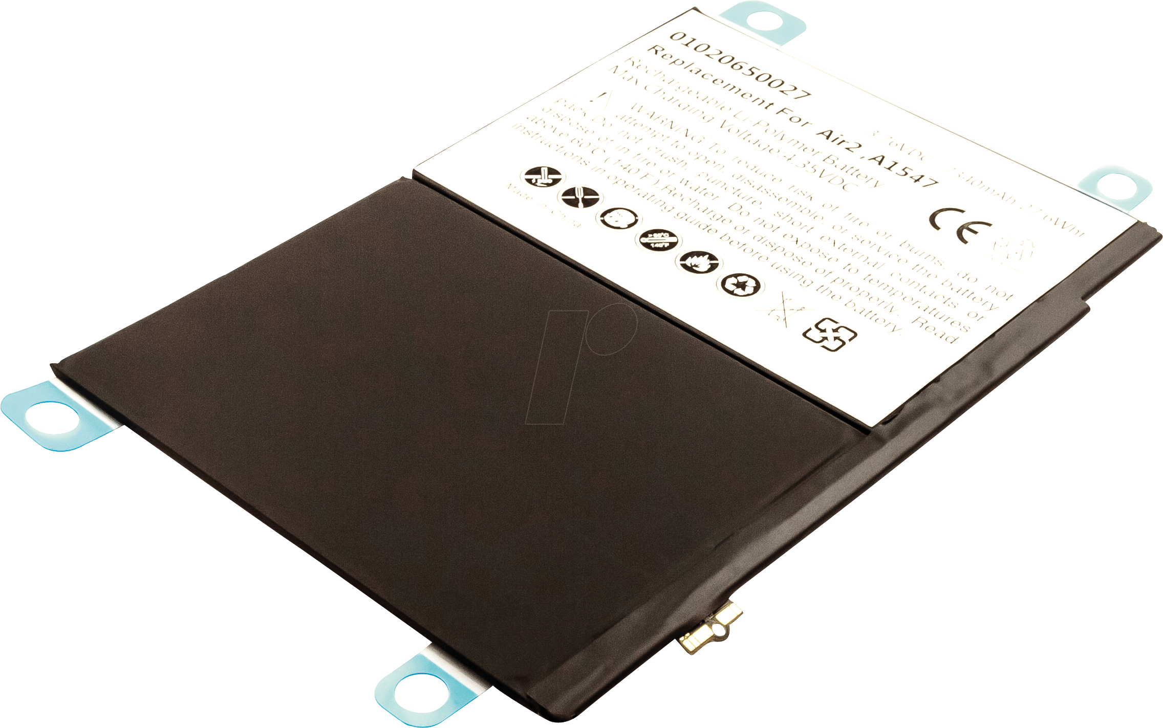 AKKU 53760 - Tablet battery for Apple iPad 6, iPad Air 2, Li-Po, 7340 mAh