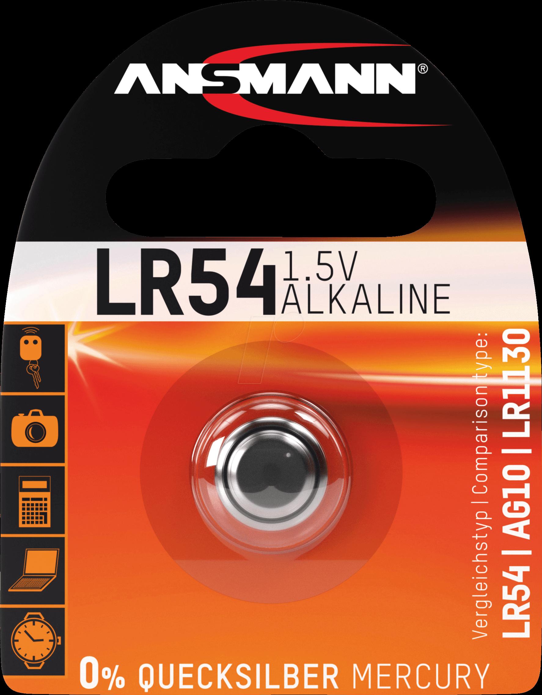 ANS 5015313 - Alkaline Knopfzelle, 65 mAh, LR54