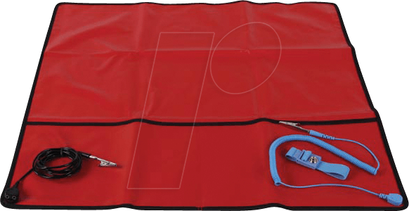 VEL AS9 - ANTI-STATIC FIELD SERVICE KIT - RED - 60 x 60 cm