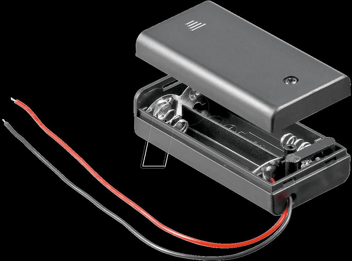 2XAA: Batteriehalter für 2 Mignon AA ...