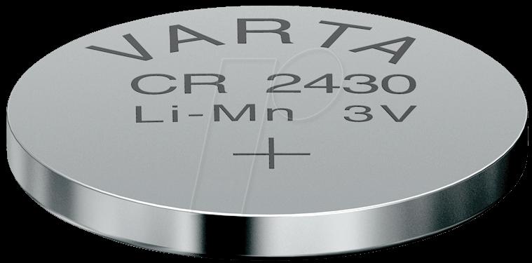 cr 2430 var lithium knopfzelle 3 v 280 mah 24 5x3 0 mm bei reichelt elektronik. Black Bedroom Furniture Sets. Home Design Ideas