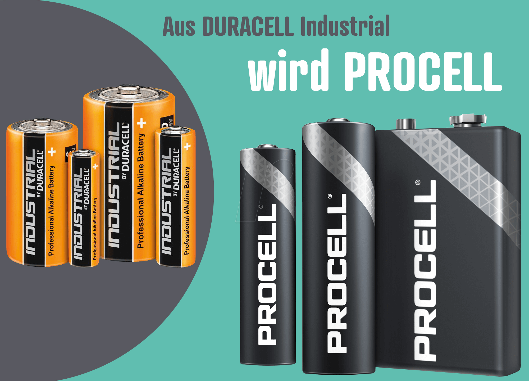 20 x DURACELL Industrial 9V Block MN1604 6LR61 Batterien der PROCELL Nachfolger
