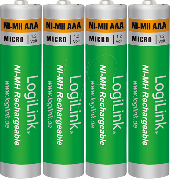 Logilink Lr03rb4 Nimh Rechargeable Battery Aaa 1000 Mah Pack Of