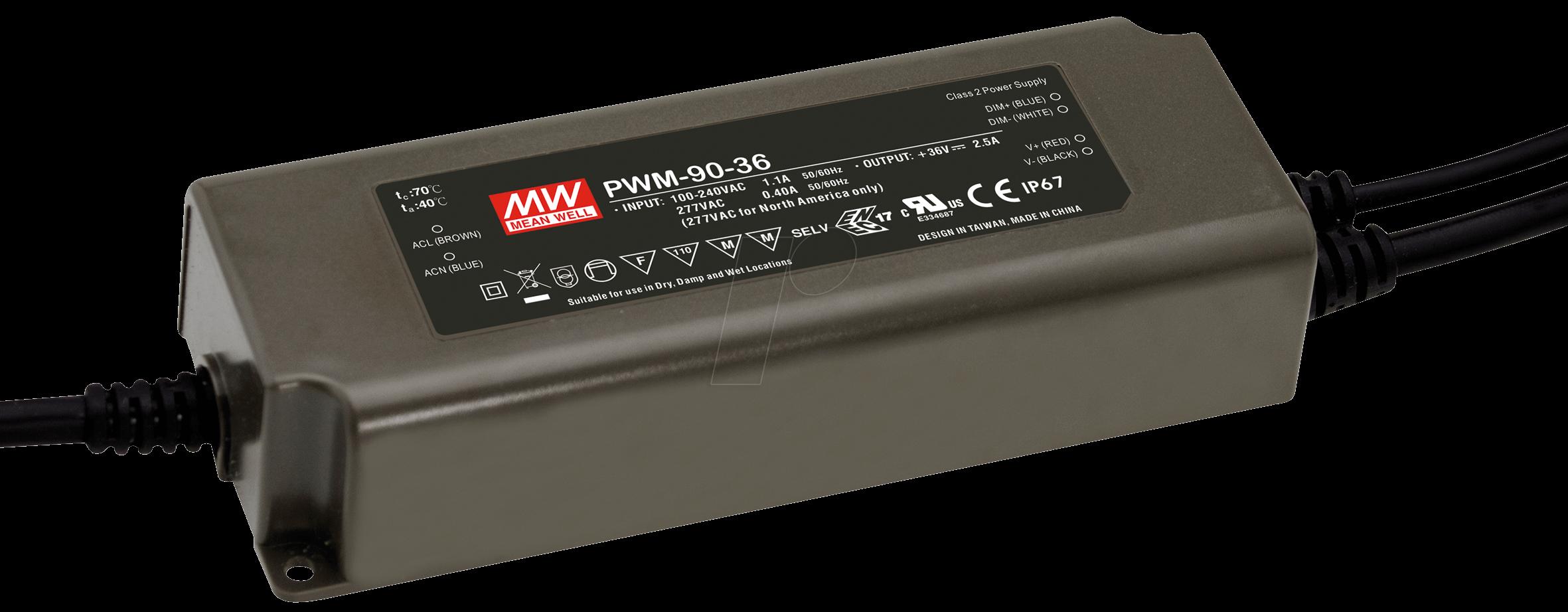 MW PWM-90-48 - LED-Switching Power Supplies, PWM-90, 48 VDC, 1,88 A