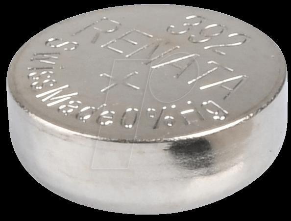 RENATA 392 - Silberoxid-Knopfzelle, 392, 45 mAh, 7,9 x 3,6 mm