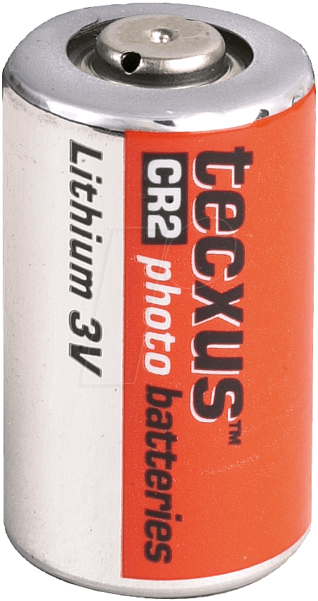 TECXUS CR 2 - Lithium Batterie, CR2, 800 mAh, 1er-Pack