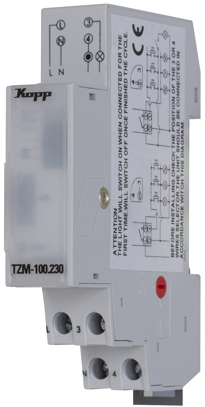 El Tzm 100230 Staircase Lighting Timer Switch At Light Wiring On A First Kopp 760906013