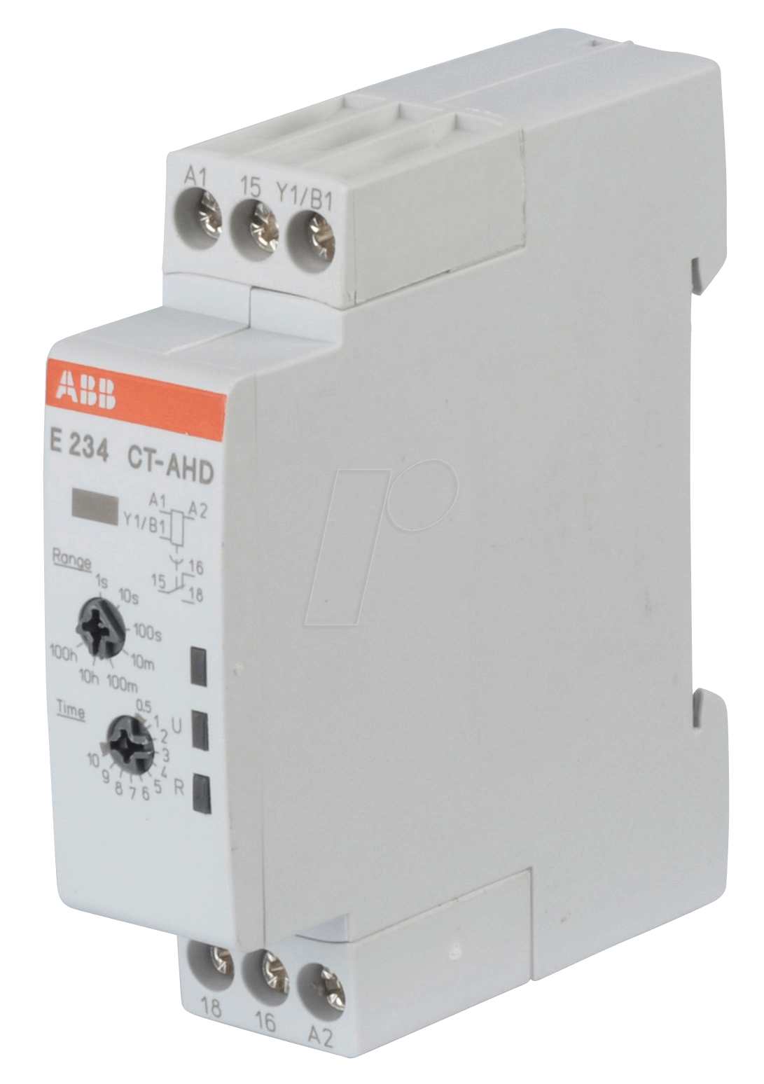 Abb E234ct Ahd12 Time Lag Relay 1 Changeover Contact 6 A Off On Delay