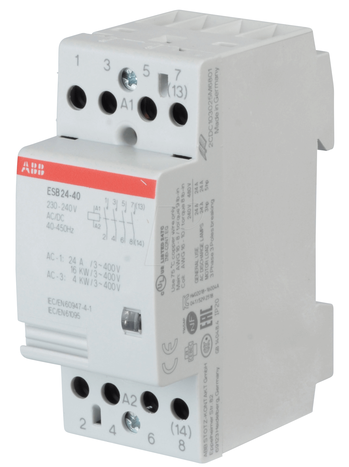 ABB ESB Installation Contactor  NO Contacts  NC - Abb basic relay school