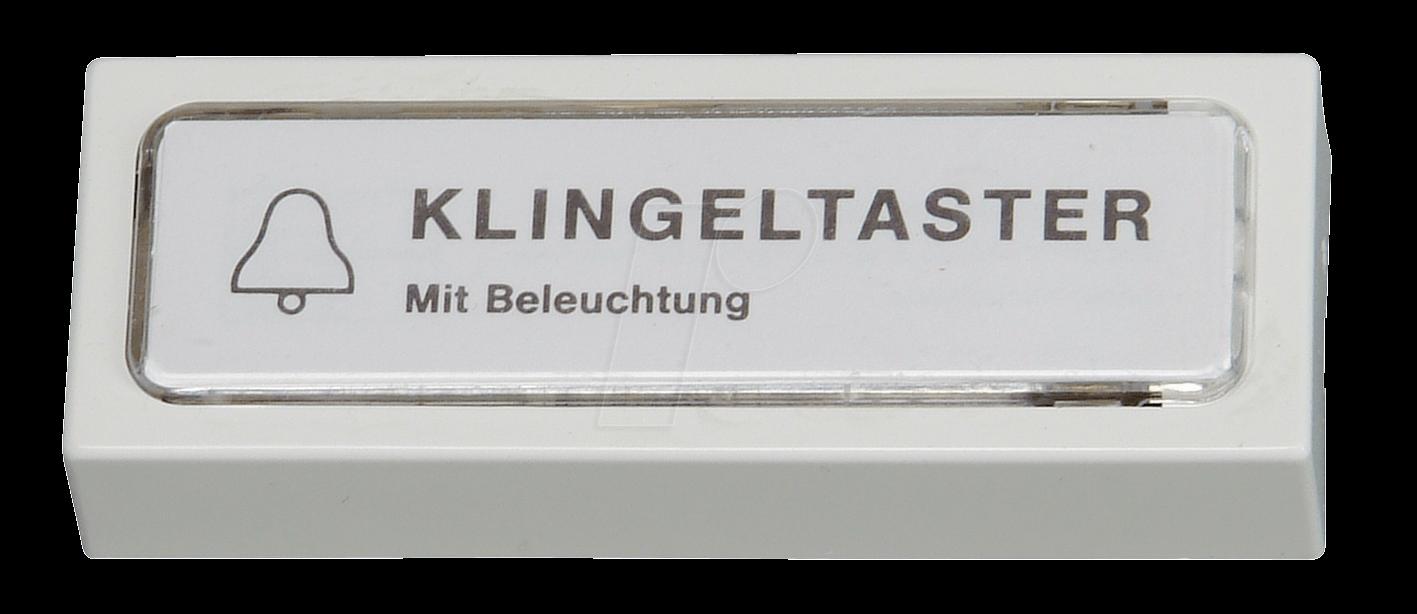 EL KTA 1 WS - Aufputz-Klingeltaster, 1-reihig, weiß