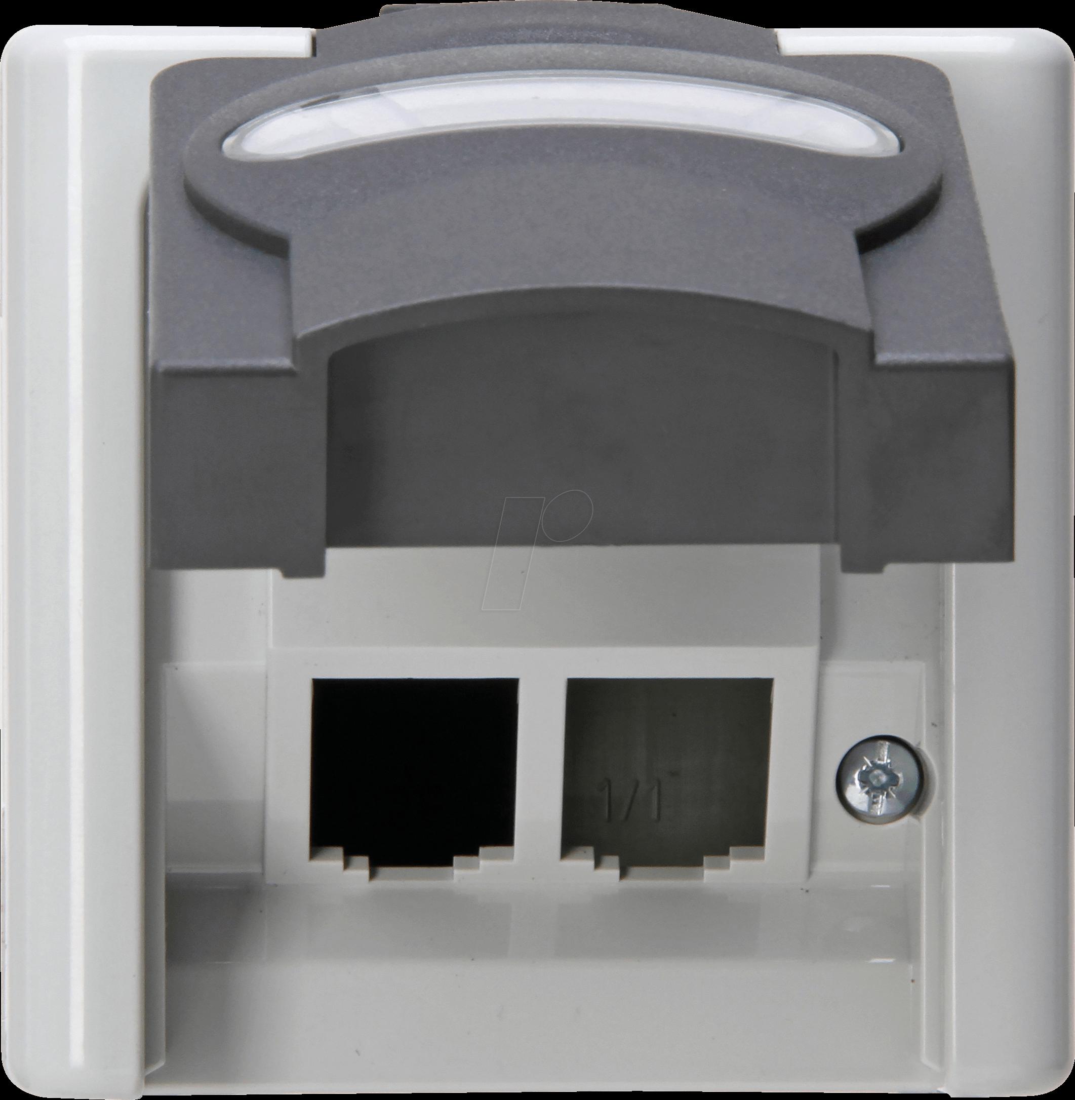 REV Aqua Form Weiß Wechselschalter Steckdosen IP44 Aufputz Steckdose Taster 102