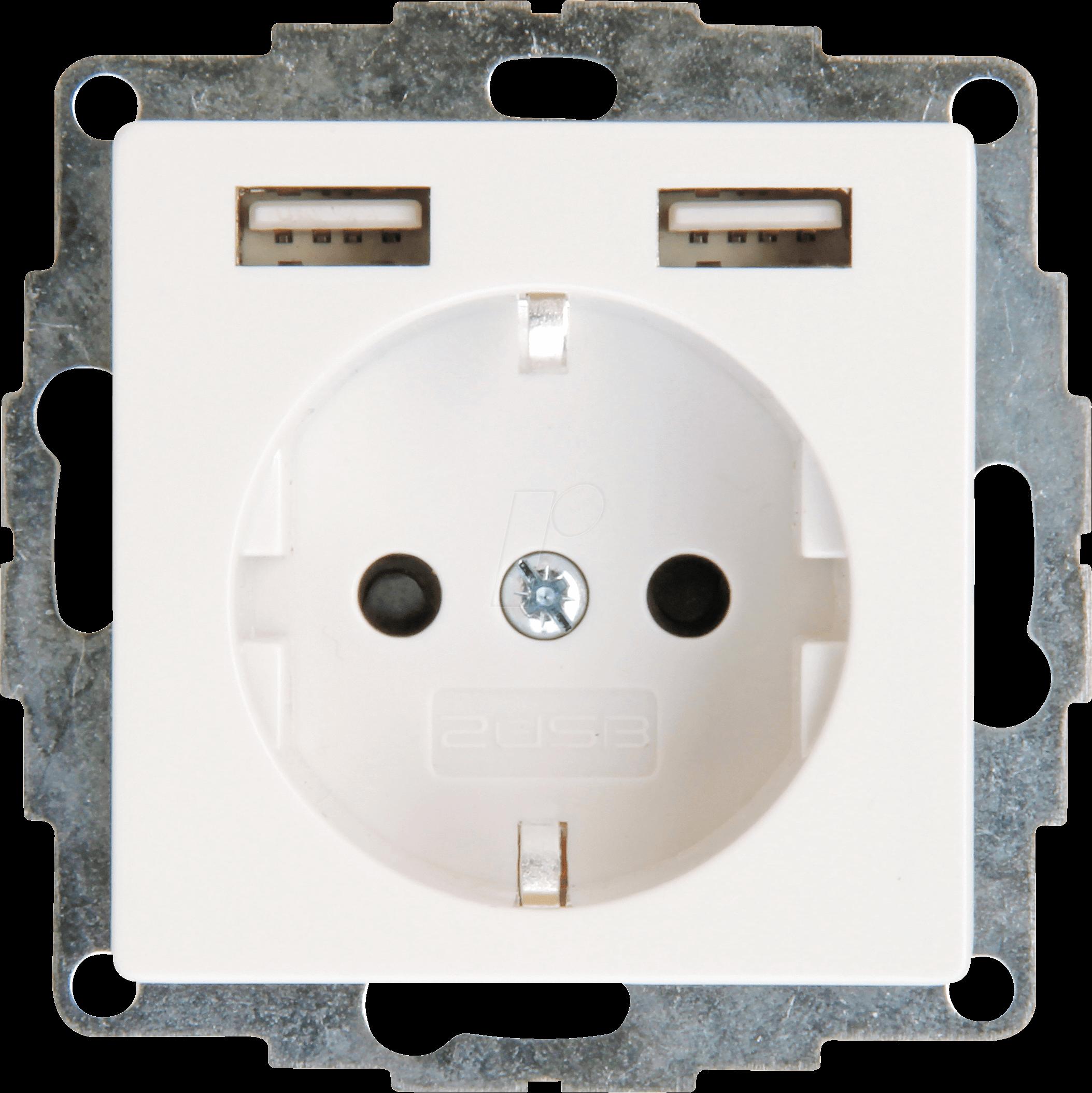 USB Schuko Wandsteckdose Passt in Standard 2-fach Unterputzdose Schutzkontakt USB Steckdose Unterputz System 55 Reinwei/ß gl/änzend wei/ß T/ÜV gepr/üft Doppelsteckdose mit 4 x USB Anschluss