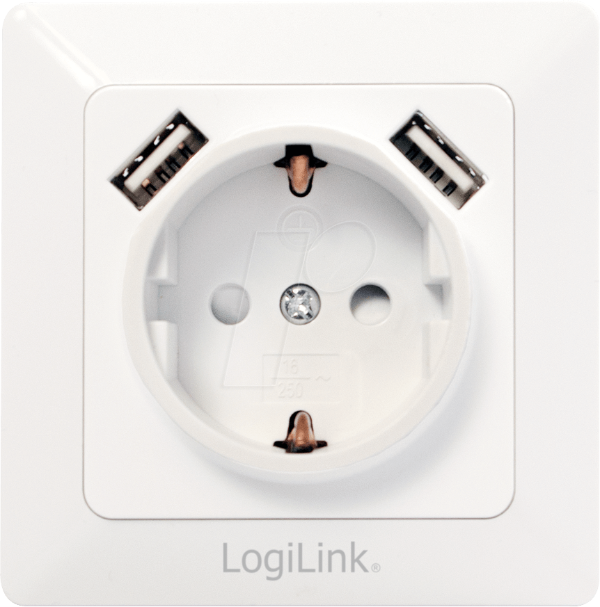 logilink pa0162 unterputz steckdose mit 2 usb ladebuchsen bei reichelt elektronik. Black Bedroom Furniture Sets. Home Design Ideas