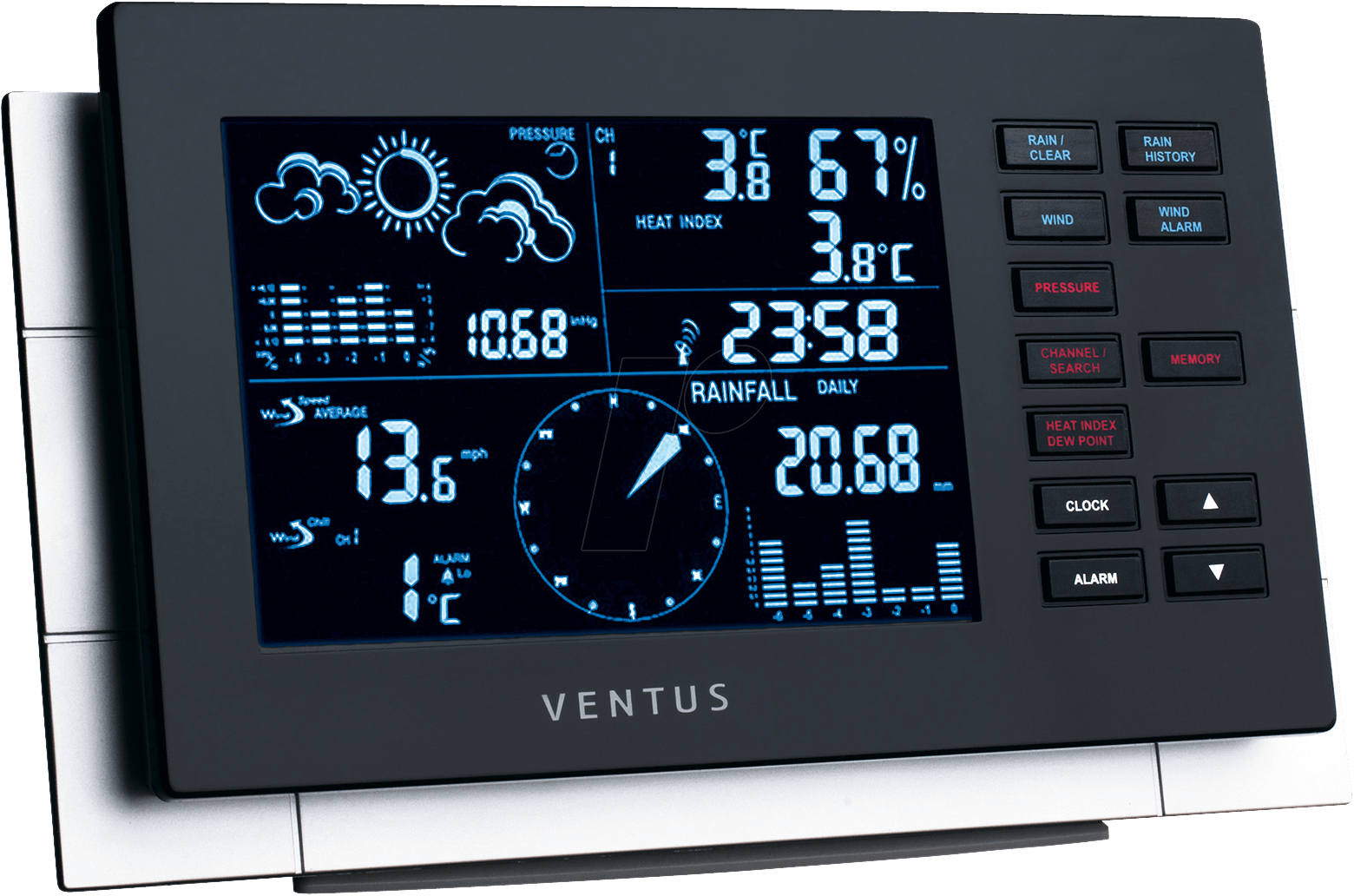 ventus w155 funk wetterstation bei reichelt elektronik. Black Bedroom Furniture Sets. Home Design Ideas