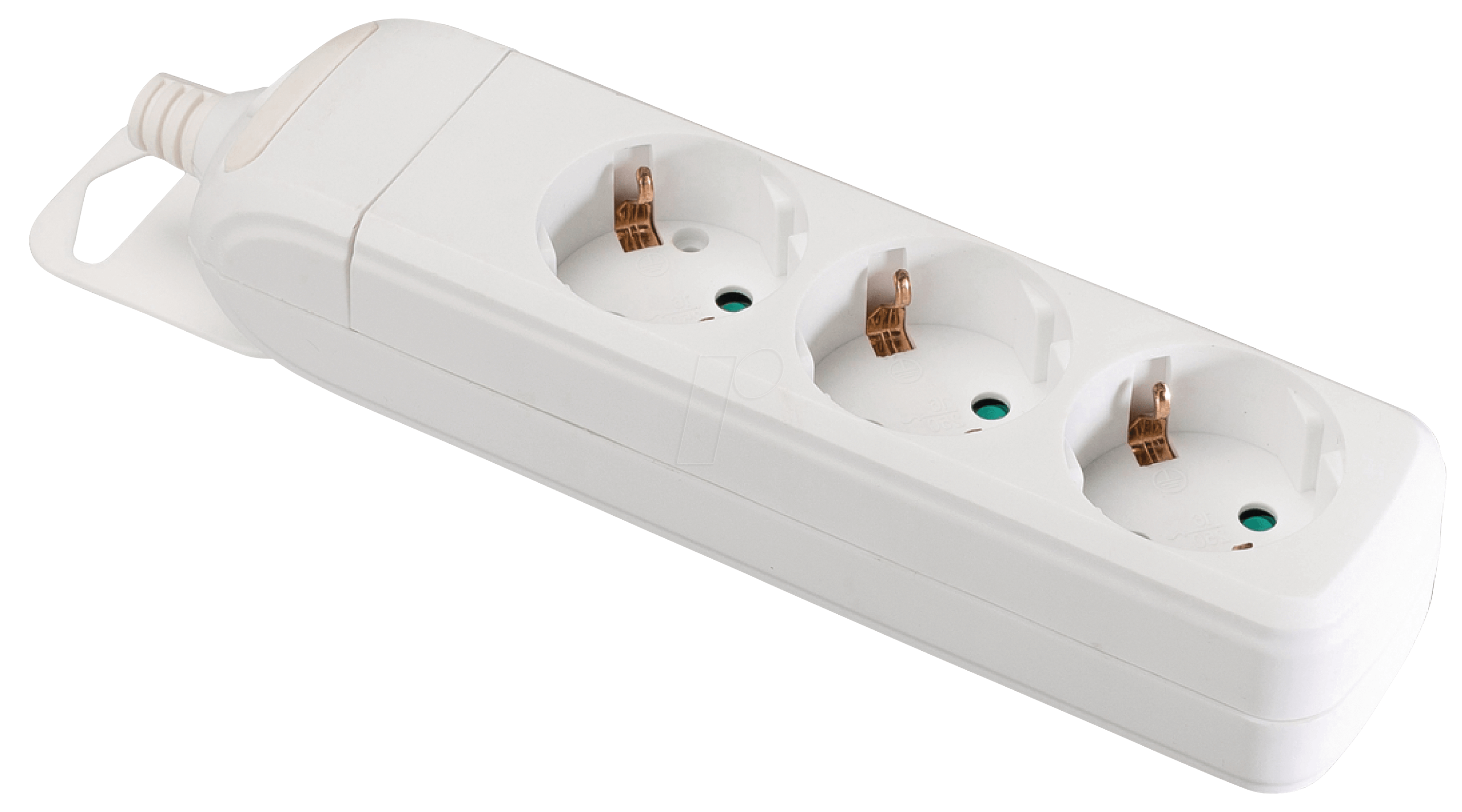 3-FACH DOSE WSOK: 3-way socket outlet without cable, white at ...