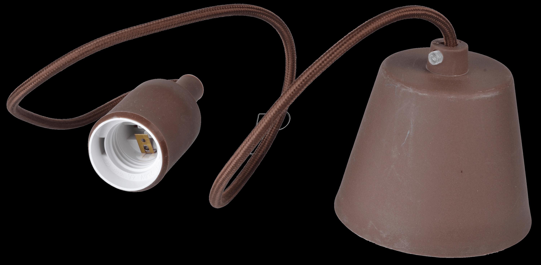 VT-3475 - Lampenfassung Pendel, E27, Silikon, braun