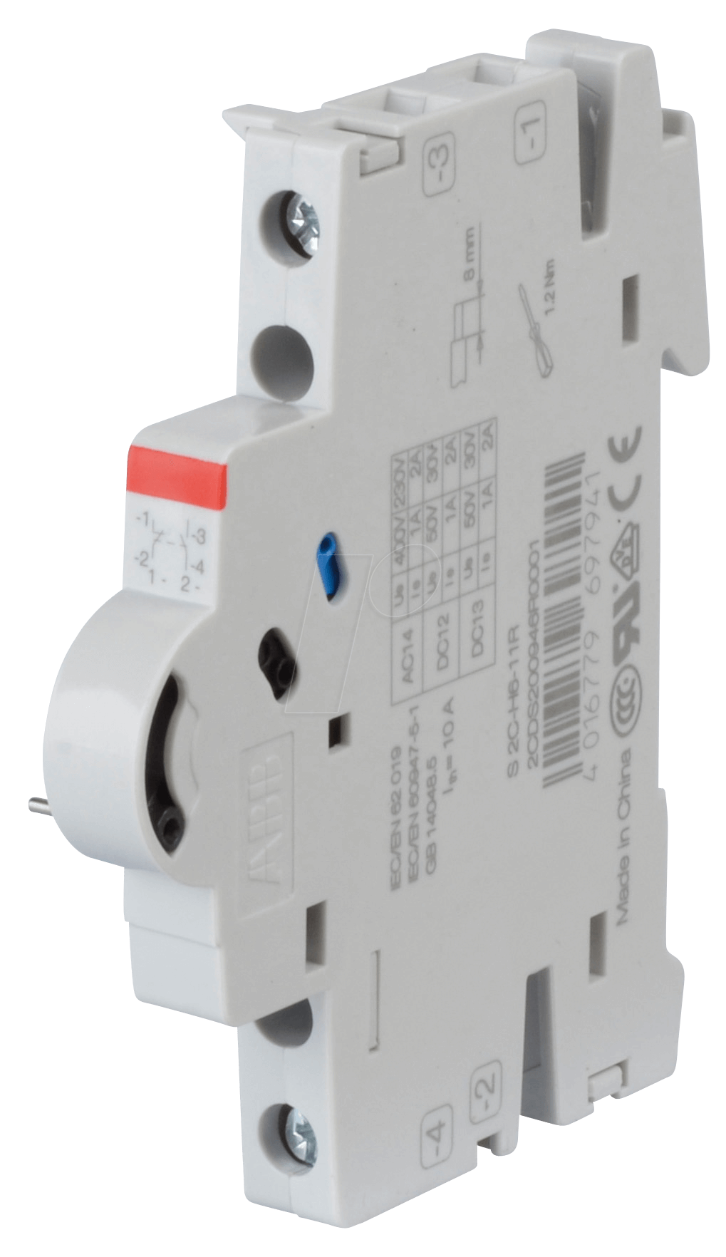 ABB S2C-H6-11R: Auxiliary Switch - Dual, 1 NO + 1 NC at reichelt ...