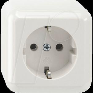 EL ME 23008719 - Steckdose, 1-fach, mit Berührungsschutz, polarweiß