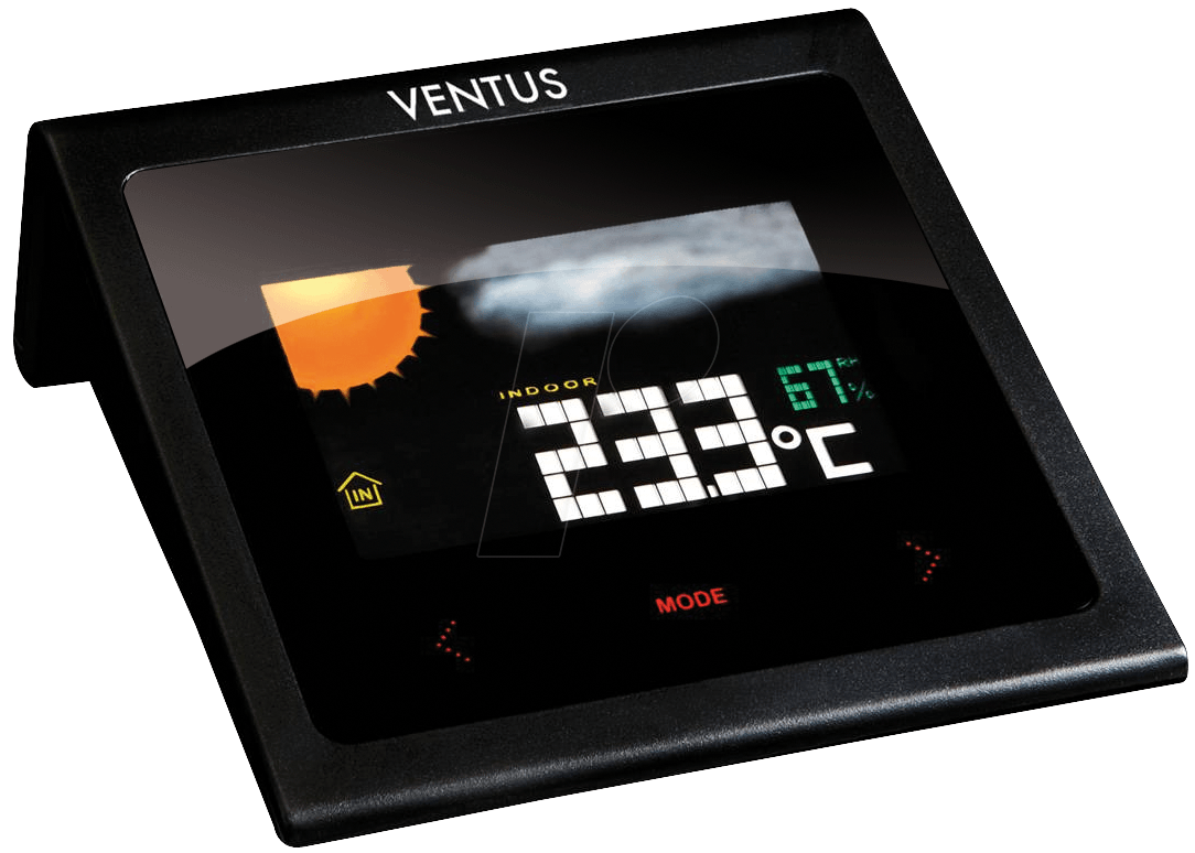 ventus w224 funk wetterstation mit lcd farbdisplay bei. Black Bedroom Furniture Sets. Home Design Ideas