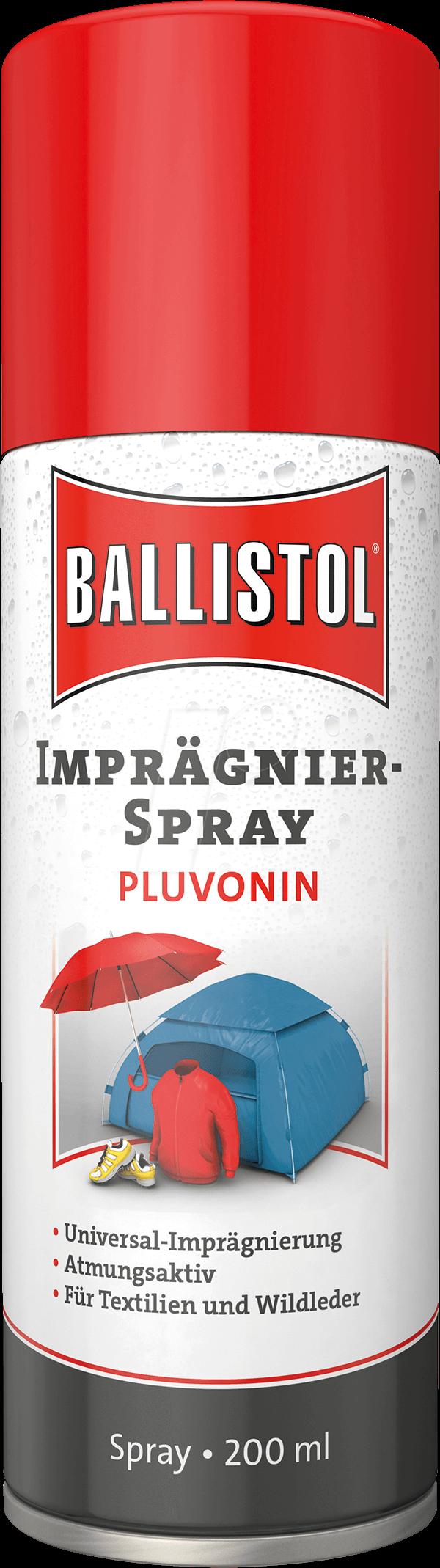 BALL 25000 - Imprägnierspray, Pluvonin, 200 ml, schmutzabweisend