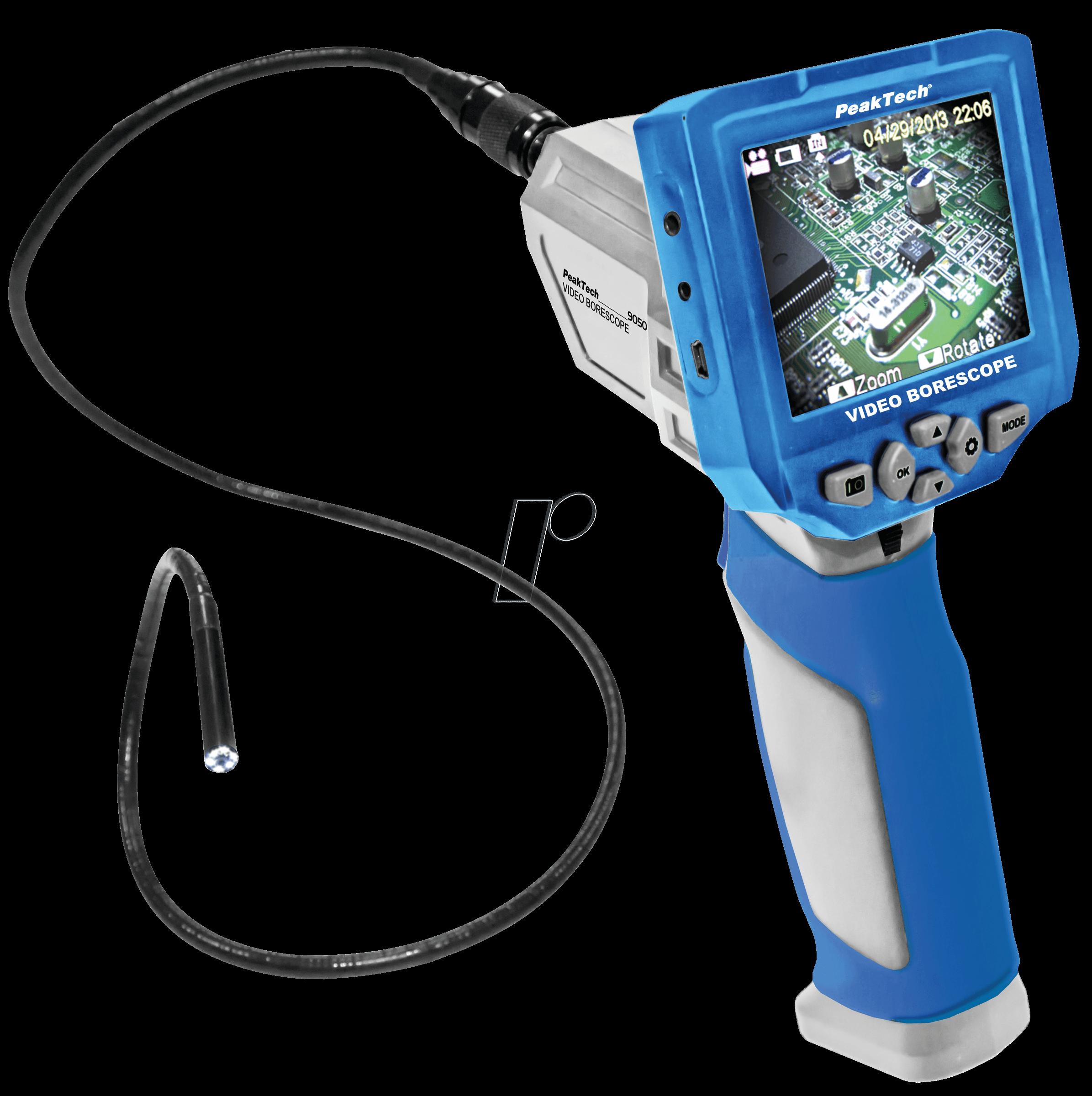 PEAKTECH 5600 - Digital Endoskop, Funk - Farbmonitor, USB/TV-Anschluss