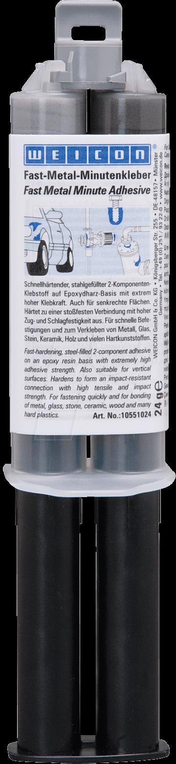 KLEBER FAST-M - Epoxykleber, Fast-Metal, anthrazit, 24 ml