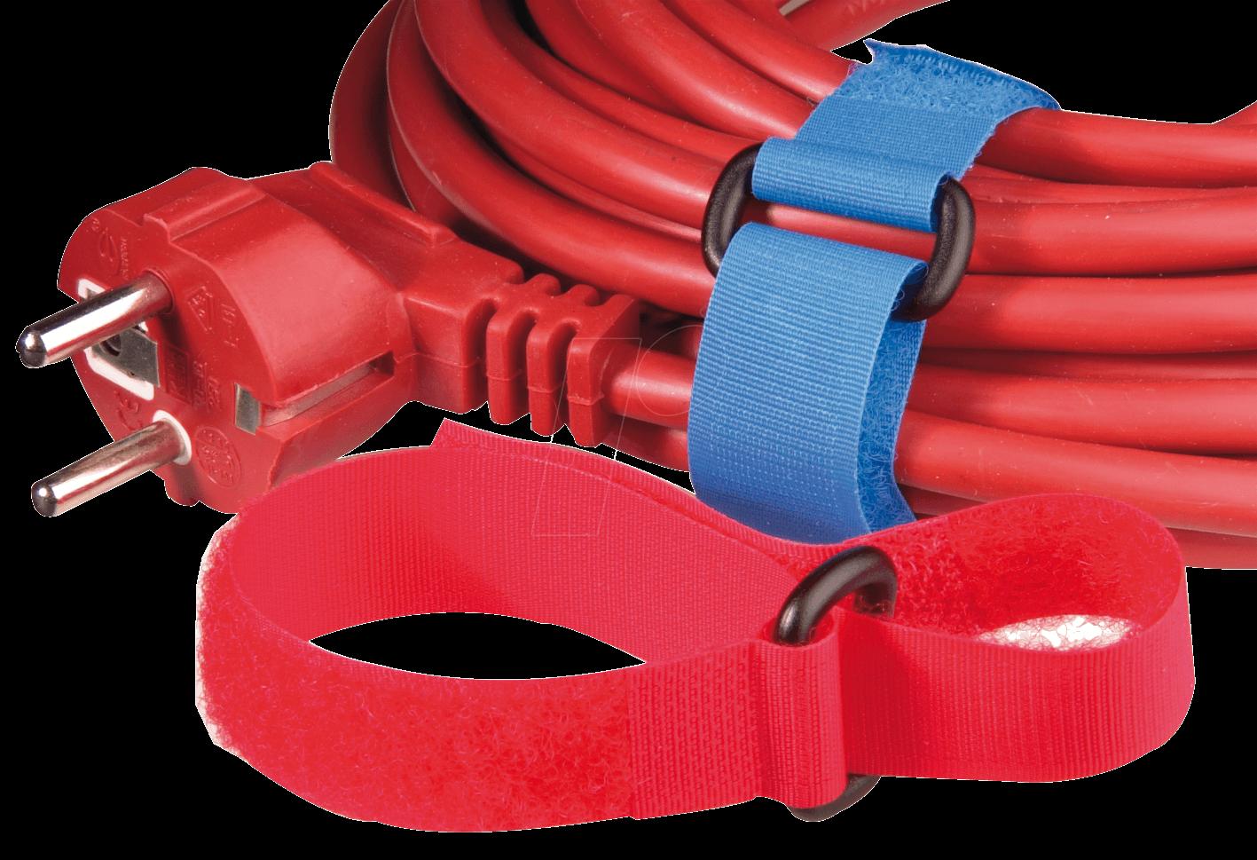 KLETTBAND 300 BL - Klettband mit Schlinge, 300 x 20 mm, blau
