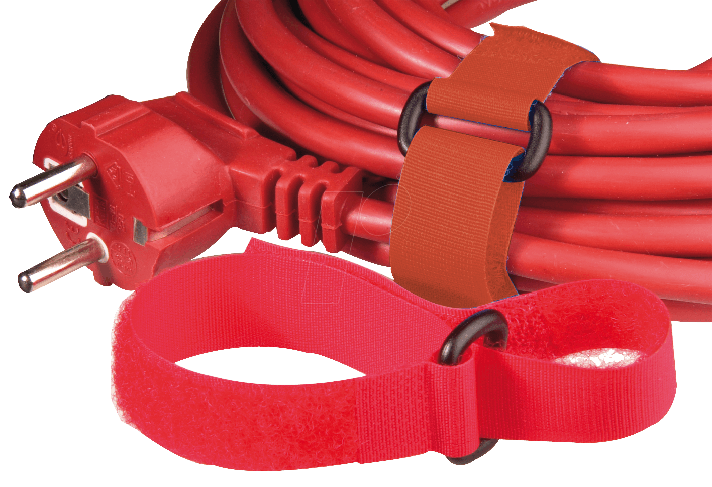 KLETTBAND 300 RT - Klettband mit Schlinge, 300 x 20 mm, rot