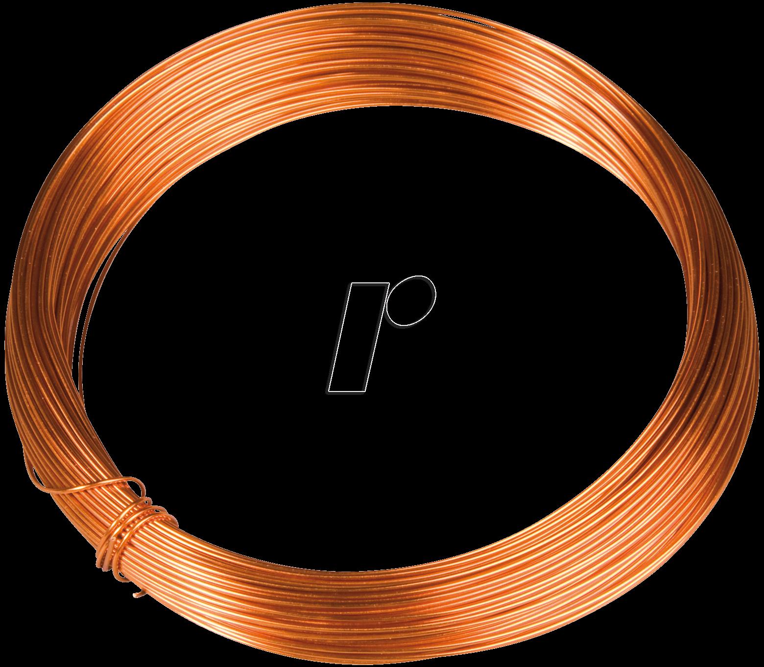 KUPFER 1,0MM: Enamelled copper wire, diameter 1.18 mm, length: 6 m ...