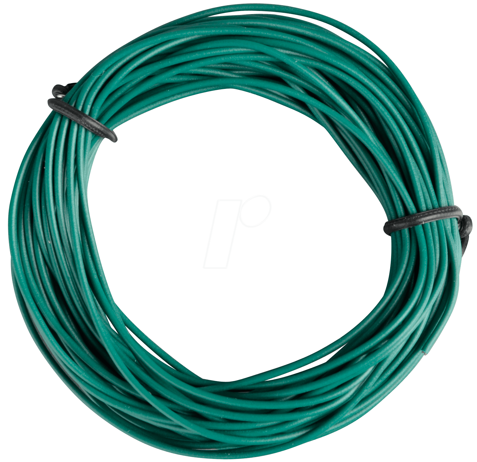 LITZE GN: Insulated braided copper wire, 10 m, 1 x 0.14 mm, green at ...