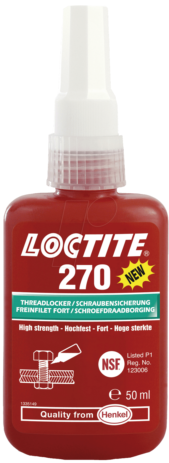 loctite 270 10ml schraubensicherung lack hochfest rot 10 ml bei reichelt elektronik. Black Bedroom Furniture Sets. Home Design Ideas