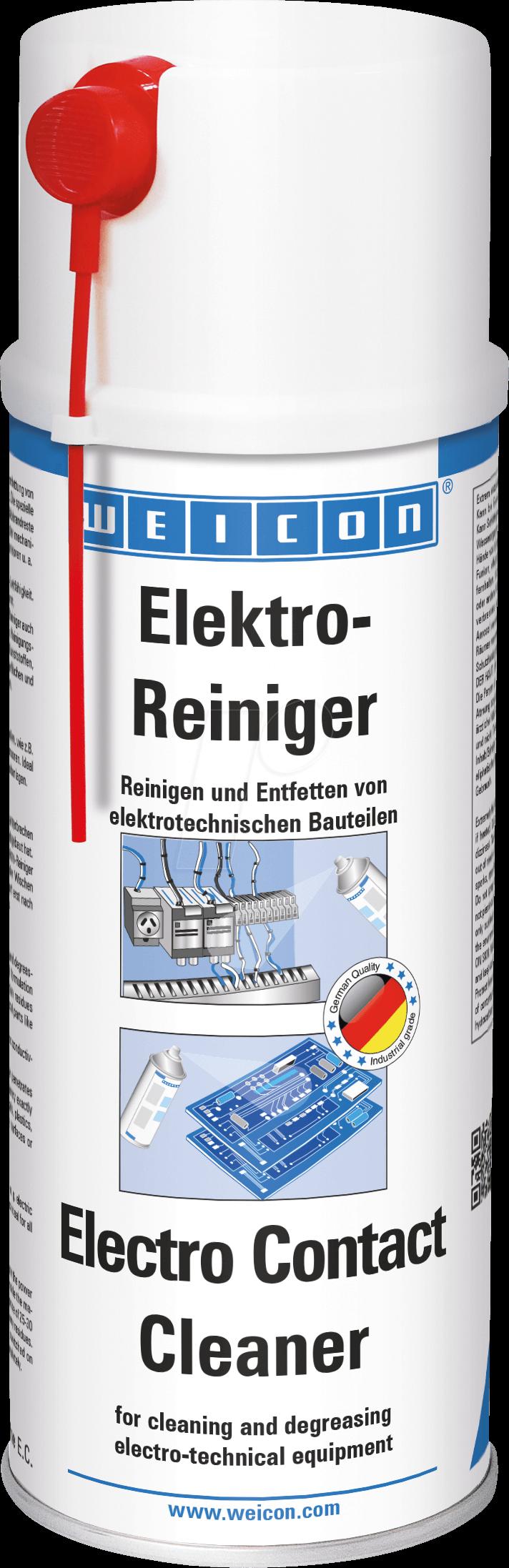 WEICON 11210400 - Kontaktspray, Elektroreiniger, 400 ml, entfettend