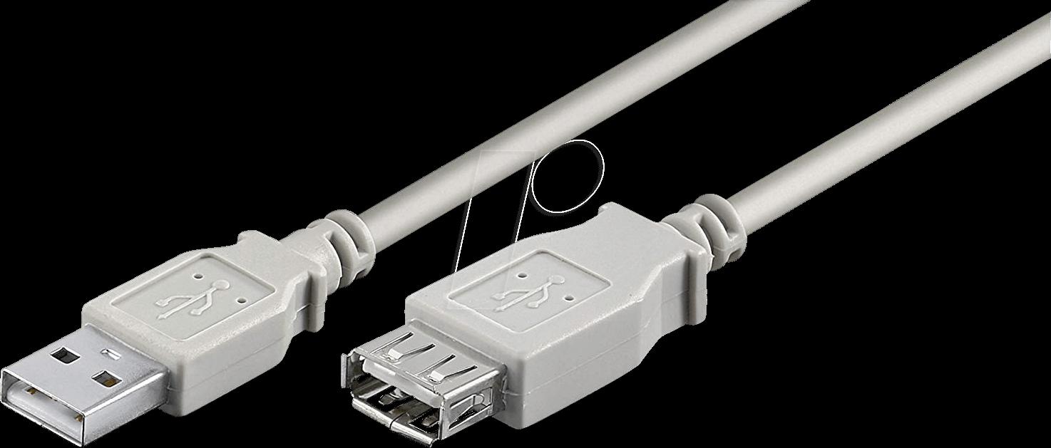 AK 669-1,8 - USB 2.0 Kabel, A Stecker auf A Buchse, 1,8 m