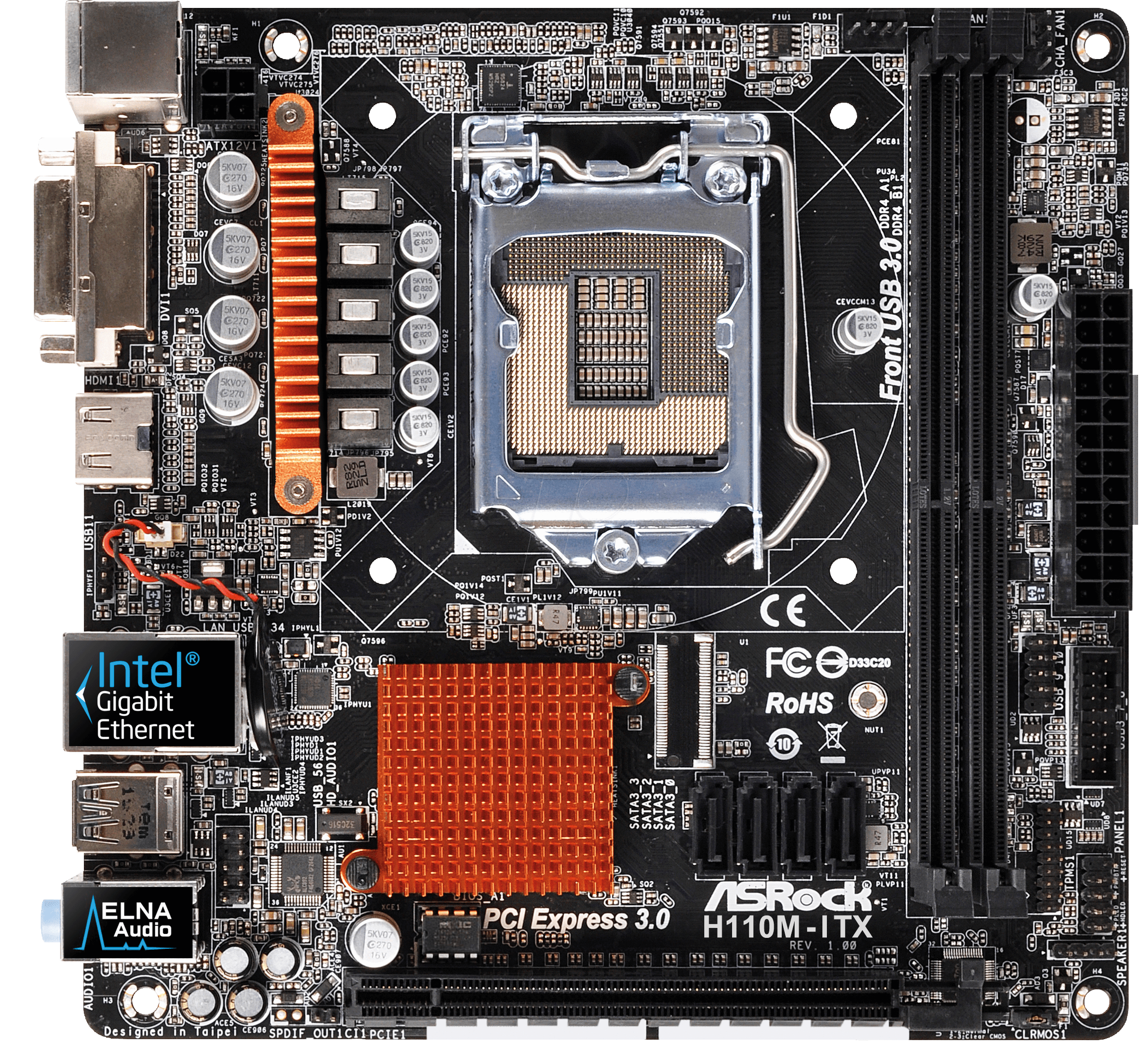 ASRock H110M-ITX/D3 Intel Graphics New
