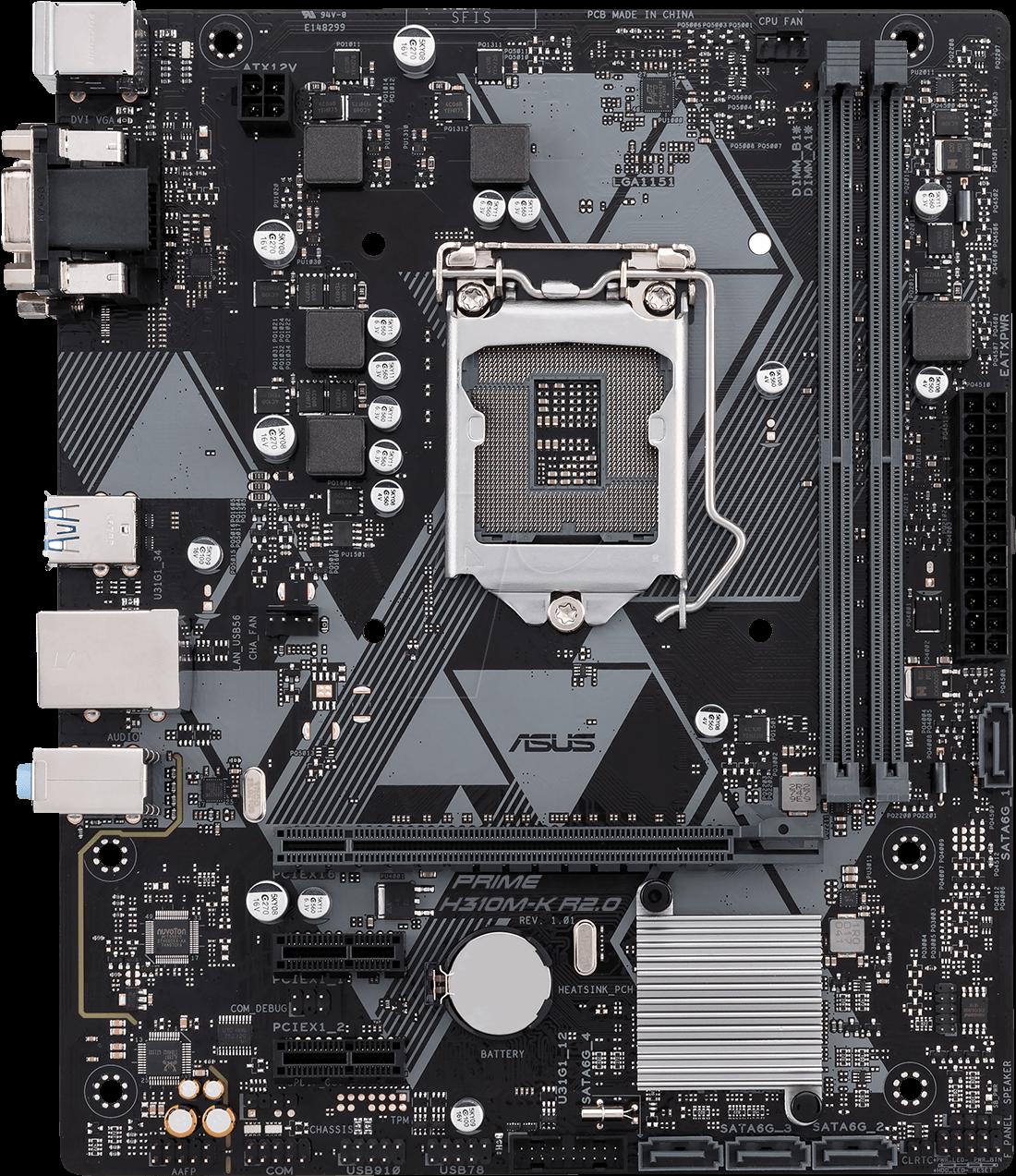 ASUSMB 90MB0Z30: ASUS Prime H310M-K R2.0 (1151) at reichelt elektronik