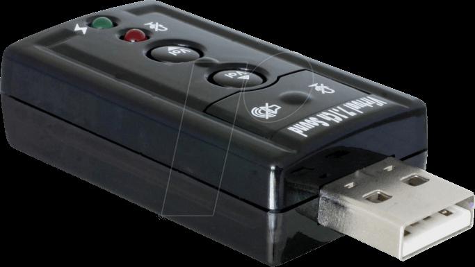 DELOCK 63926 - Externer USB 2.0 Sound Adapter 24 bit / 96 kHz, S/PDIF
