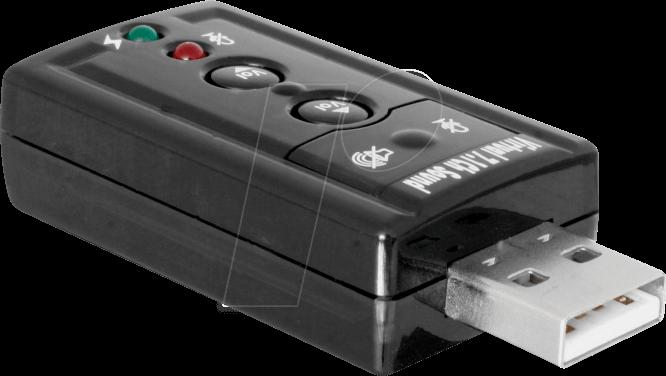 DELOCK 63926 Soundkarte, extern, 7.1, USB 2.0, 24 bit 96 kHz