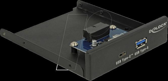 DELOCK 63962 - Delock 3.5´´ USB 3.0 Front Panel, USB Type-C, USB Typ-A